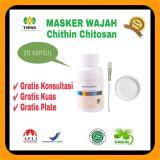 Harga Pemutih Wajah Masker Chithin Chitosan 20 Kapsul Gratis Kuas Plate Baru Murah