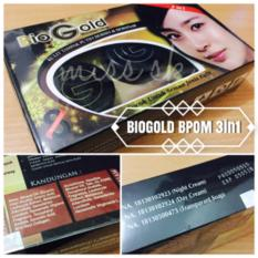 pemutih wajahPaket Bio gold Whitening Cream BPOM 3 in 1 (3in1)