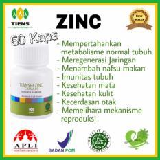 Penggemuk Zinc 60 Kaps Tiens Supplement Diskon 30