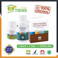 Harga Peninggi Badan Herbal Alami Tiens Nutrient High Calcium Powder Nhcp 4 Box 2 Botol Zinc 1 Botol Spirulina Gratis Member Card Gift Baru