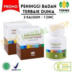 Spesifikasi Peninggi Badan Tiens Nutrient High Calsium Powder Dan Zinc Paket 2 Promo Murah