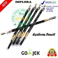 Pensil Alis Implora Original Eyebrow / Drawing Eyebrow / Pencil & Brush / Celak / Resmi BPOM - HITAM