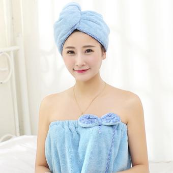 Harga preferensial Lembut topi rambut kering menyerap air wanita Lebih tebal Handuk Pengering Rambut dewasa Imut