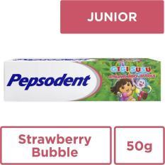 Pepsodent Pasta Gigi Strawberry Bubble 50G
