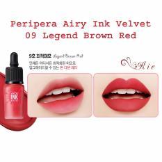 Peripera Airy Ink Velvet 09 Legend Brown Red Promo Beli 1 Gratis 1