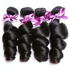 Perstar Hair 7A Grade Rambut Gelombang Gelombang Brasil Virgin Remy Rambut Manusia Menenun 4 Bundel Rambut Perawan Upah Alami -Intl