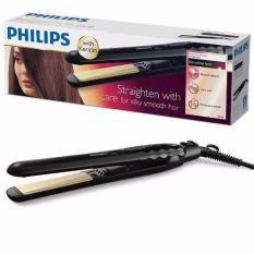 Philips KeraShine Ionic Straightener Alat Catokan, Pelurus Rambut - HP8348 Hitam