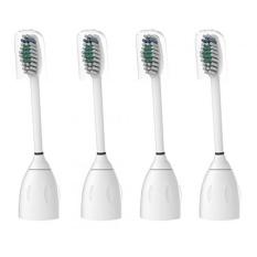 Philips Sonicare E-series Kompatibel Kepala Sikat Gigi Penggantian dengan Topi, 4 Pack Eseries