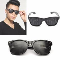 Pinhole Sunglasses / Kacamata Terapi Vision Untuk Kesehatan Mata Untuk Segala Usia Free Box Kacamata