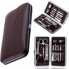 Jual Pitaldo Set 12 Pcs Peralatan Perawatan Kuku Tangan Dan Kaki Manicure Pedicure Dengan Kotak Kulit Ori