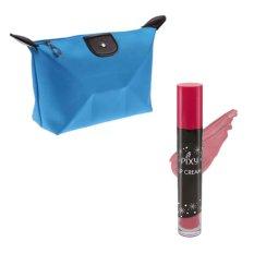 Pixy Lip Cream 01 Chic Rose Free Alisha Tas Kosmetik Mini Biru Muda