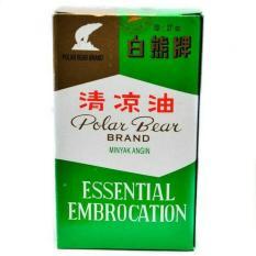 Polar Bear Brand Oil 27 Ml - Minyak Angin Beruang, Meredakan Sakit Kepala, Mual, Mabuk Perjalanan