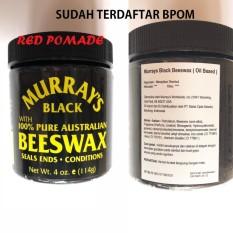 Pomade Murray's Murrays - Black Beeswax Oilbased Oil Based Sudah BPOM + Free Sisir Saku