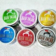 Pomade Warna Cultusia BPOM - Cultusia Pomade Hair Clay Colour BPOM - Green Leaf + Free Sisir -1 Pcs