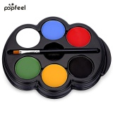 Beli Popfeel 6 Warna Body Face Paint Makeup Painting Pigmen Seri Multicolor Seni Tubuh Hitam Intl Yang Bagus