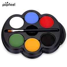 Spek Popfeel 6 Warna Body Face Paint Makeup Painting Pigmen Seri Multicolor Seni Tubuh Hitam Intl Oem