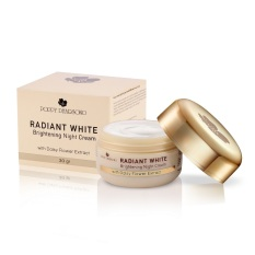 Promo Poppy Dharsono Cosmetics Radiant White Brightening Night Cream With Daisy Flower Extract Poppy Dharsono Cosmetics