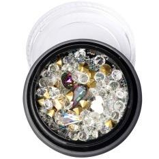 Populer Nail Sequins Beads Kaca Putih Diamond Bentuk Khusus Nail Art Colorful 5 Jenis-Intl