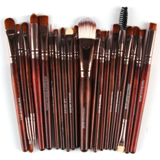 Praktis 22 Pcs Mata Sikat Khusus Powder foundation Brush Kuas Bibir Cheek Adalah Brush Tetes Air Bentuk Set 3 #