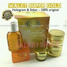 Premium Super Gold Whitening Walet Paket Set Memutihkan Mencerahkan Kulit Wajah Hologram Original Krim Siang Malam Anti Alergi