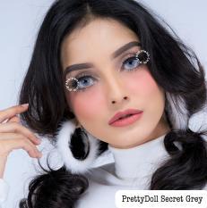 Pretty Doll Secret Eye Grey Softlens - Minus 0.75 + Gratis Lenscase