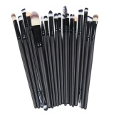 Jual Prime 20 Pcs Make Up Brushes Foundation Eyeshadow F*c**l Cosmetic Kit Black Antik