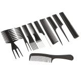 Spesifikasi Pro 10 Buah Peralatan Salon Cukur Rambut Sisir Sikat Rambut Anti Statis Sisir Sikat Perawatan Rambut Gaya Set Alat Internasional Beserta Harganya