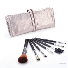 Harga Termurah Pro Kosmetik Foundation Blending 7 Pcs Brushes Blush Makeup Tool Set Kit Khaki Intl
