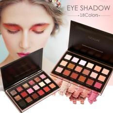 Profesional 18 Penuh Warna Shimmer Matte Pigment Diamond Mineral Glitter Makeup Kosmetik Palet eyeshadow Set (1 # Bright LUX) -Intl
