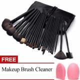 Harga Profesional 24 Buah Kosmetik Makeup Kit Set Kuas Make Up Alat Make Up Kuas Pembersih Dengan Super Lembut Case Tas Kantong International Asli Oem