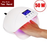 Harga Professional 50W Lcd Display Dual Uv Led Nail Lamp Nail Dryer With Bottom Timer Intl New