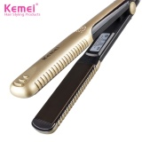 Situs Review Professional Ceramic Hair Straightener Iron Hairstyling Flat Iron Straightening Ideal For Saloon Gold Intl