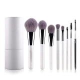 Spesifikasi Professional Makeup Brushes Cosmetic Brush Set Synthetic Kabuki Eye Face Lip Powder Foundation Make Up Brushes With White Holder 8 Pcs Intl