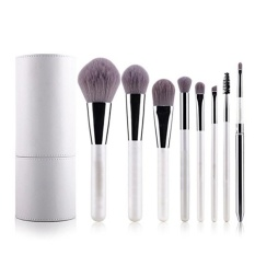 Harga Professional Makeup Brushes Cosmetic Brush Set Synthetic Kabuki Eye Face Lip Powder Foundation Make Up Brushes With White Holder 8 Pcs Intl Satu Set