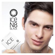 PROMO GAJIAN Softlens EXOTICON ICE N8 BLACK / HITAM NORMAL