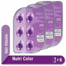 PROMO MULTIPACK x3 Ellips Hair Vitamin Moroccan Oil Nutri Color Blister 6 x 1 ml