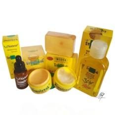 [ PROMO ] Paket Super Hemat Cream Temulawak Original Hologram Gold SUPER - Temulawak Cream Asli Malaysia ( Cream, Sabun, Toner dan Serum )
