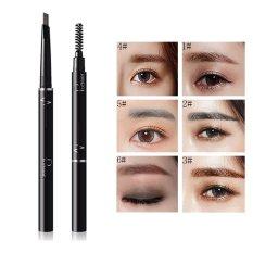 Pudaier 6 Color Lápiz de Cejas Enhancerl Impermeable Doble Cepillo de Sombra de Ojos Del Maquillaje de Cejas Lápiz de Cejas Cosméticos Maquillaje Belleza 01 color - intl