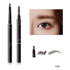 Pudaier 6 Warna Lápiz De Cejas Enhancerl Kedap Doble Cepillo De Sombra De Ojos Del Maquillaje De Cejas Lápiz De cejas Cosméticos Maquillaje Belleza 04 Warna-Internasional