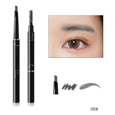 Pudaier 6 Warna Lápiz De Cejas Enhancerl Kedap Doble Cepillo De Sombra De Ojos Del Maquillaje De Cejas Lápiz De cejas Cosméticos Maquillaje Belleza 05 Warna-Internasional