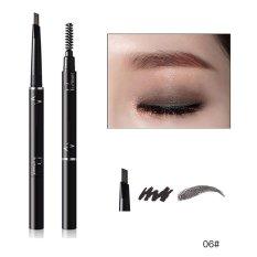 Pudaier 6 Color Lápiz de Cejas Enhancerl Impermeable Doble Cepillo de Sombra de Ojos Del Maquillaje de Cejas Lápiz de Cejas Cosméticos Maquillaje Belleza 06 color - intl