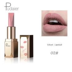 Pudaier Merek 26 Pcs/lot Fashion Matte Bibir Make Up Pigmen Tahan Lama Red Nude Velvet Tahan Air Matte Lipstik Kosmetik 02 Warna-Intl