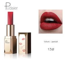 Pudaier Merek 26 Pcs/lot Fashion Matte Bibir Make Up Pigmen Tahan Lama Red Nude Velvet Tahan Air Matte Lipstik Kosmetik 13 Warna-Intl