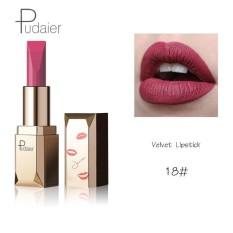 Pudaier Merek 26 Pcs/lot Fashion Matte Bibir Make Up Pigmen Tahan Lama Red Nude Velvet Tahan Air Matte Lipstik Kosmetik 18 Warna-Intl