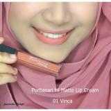 Ulasan Purbasari Hi Matte Lip Cream Warna 01 Vinca