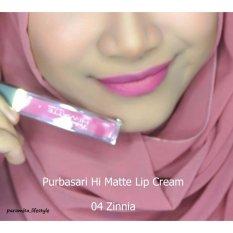 Purbasari Hi Matte Lip Cream - warna 04. Zinnia