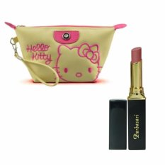 Purbasari Lipstick Color Matte 83 Free Alisha Tas Kosmetik Mini 202-Hijau Tosca RSC