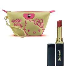 Purbasari Lipstick Color Matte 86 Free Alisha Tas Kosmetik Mini 202-Hijau Tosca RSC