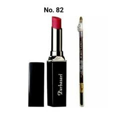 Purbasari Paket Lipstick Color Matte No. 82 Free Implora Pensil Alis Hitam BPOM - Original