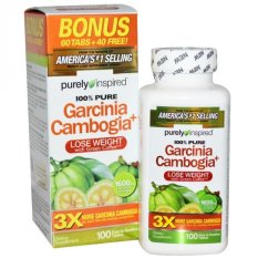 Pure - America's #1 Selling Purely Inspired, Garcinia Cambogia+, 1600 mg, 100 Tablets